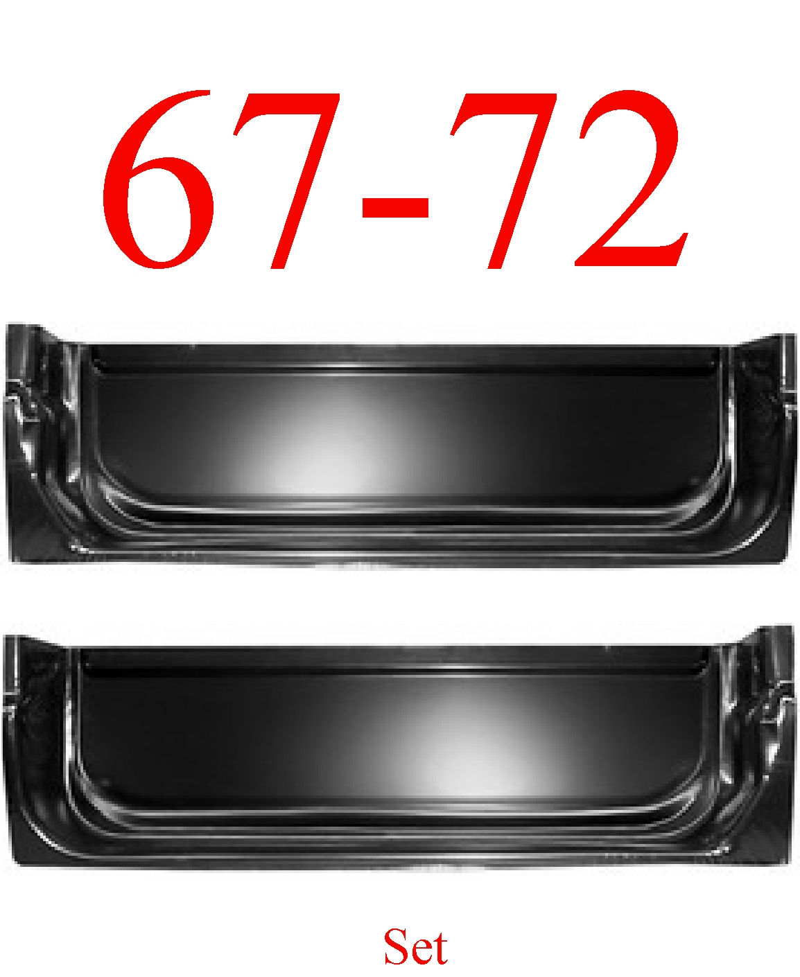 67-72 Chevy Inner Door Bottom Set
